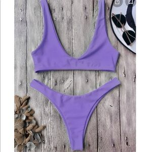 Zaful purple bikini